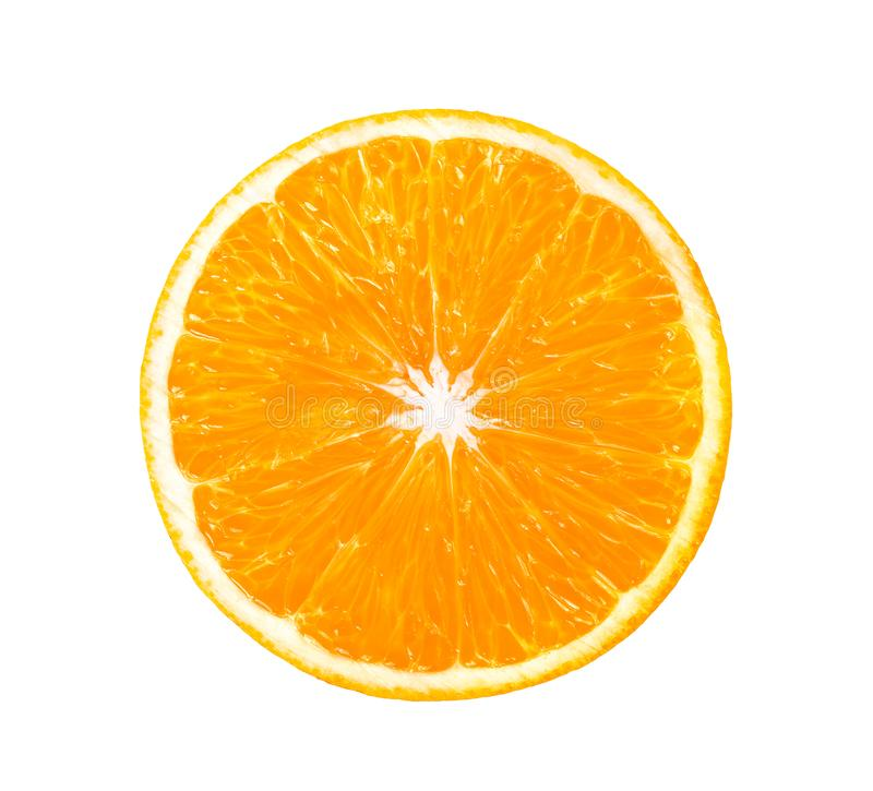 Free Orange Slice  On A White Background. Top View Royalty Free Stock Photography - 155575117