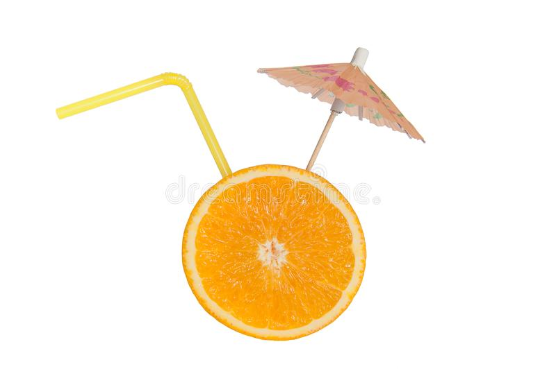 Orange. slice of orange. orange smoothie. vector illustration