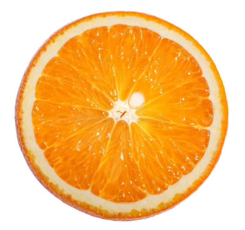 Orange slice white background clipping path.  stock images