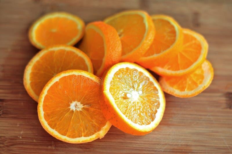 Orange sliced royalty free stock photos