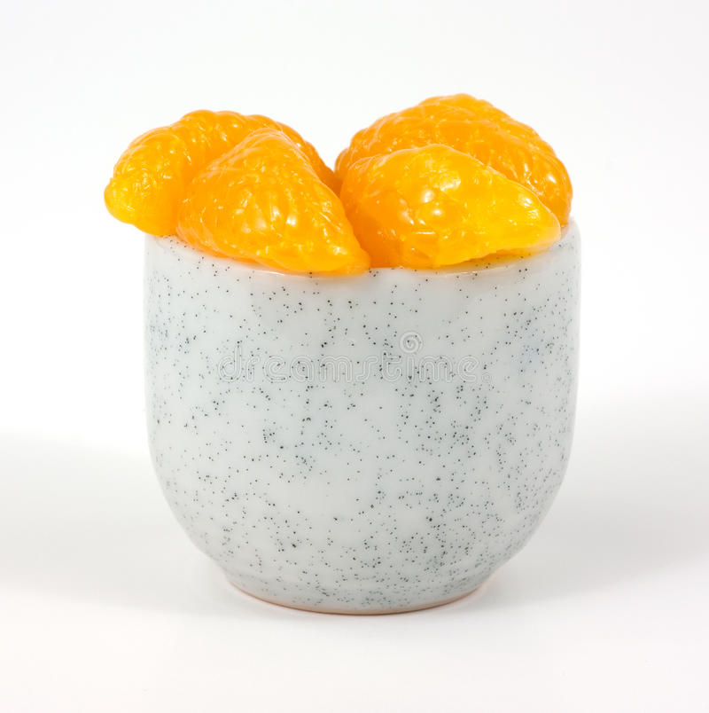 Free Orange Slices In Small Cup Royalty Free Stock Images - 18433509
