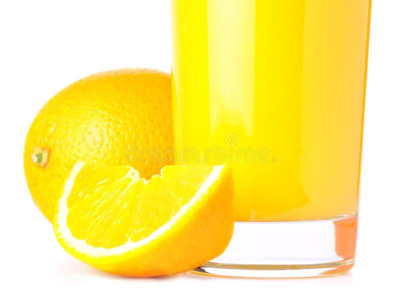 Orange slices and juice stock photography