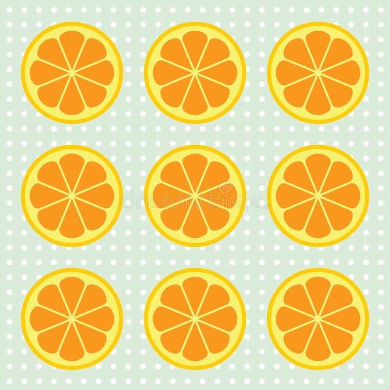 Orange slices pattern. Vector illustration. stock photo