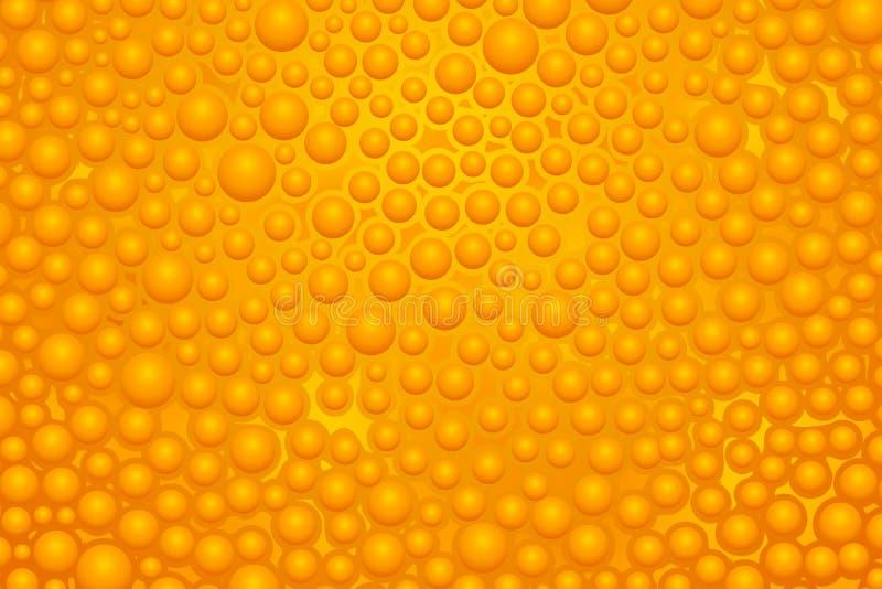 Orange slime 02 royalty free illustration