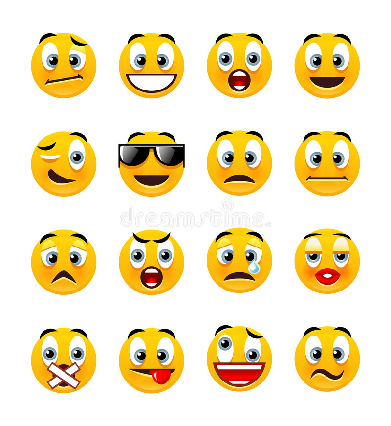 Orange smileys stock illustration
