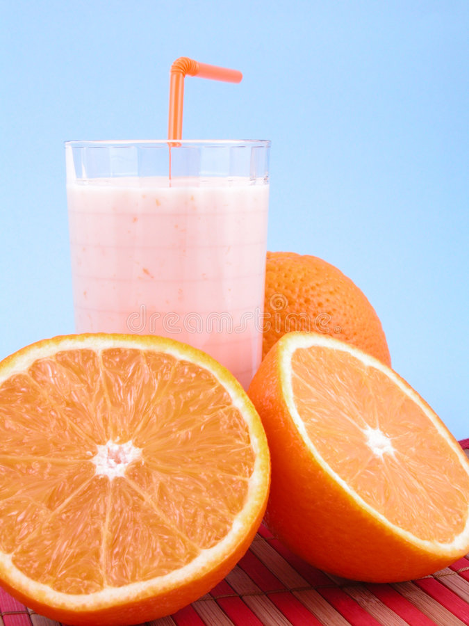 Orange Smoothie stockfotografie