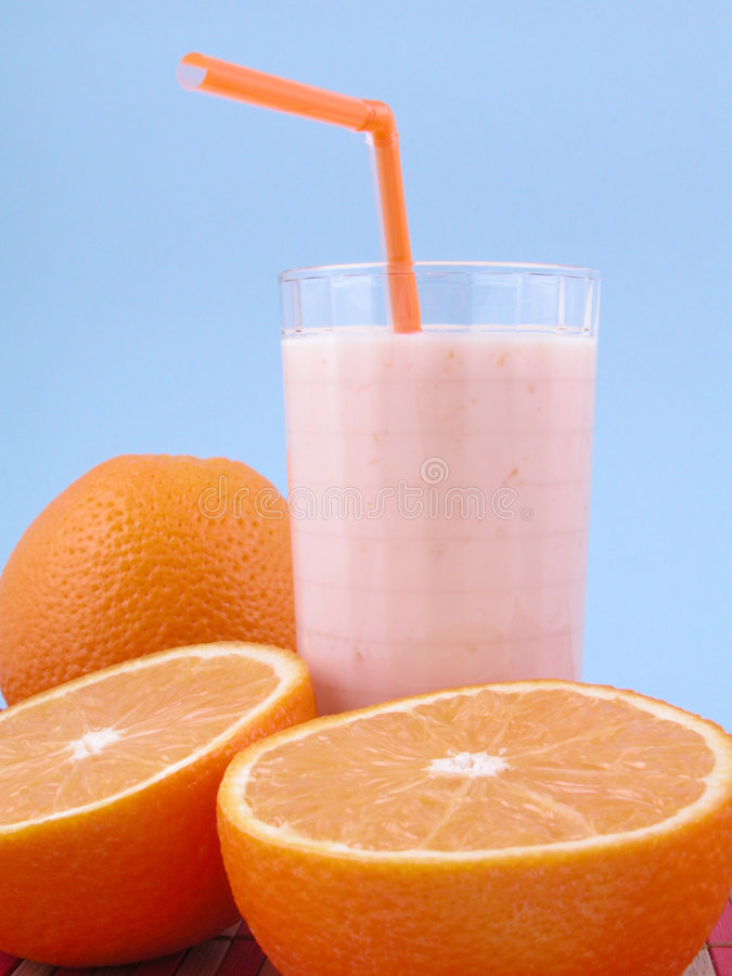 Orange Smoothie stockfotos