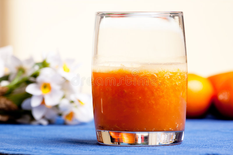 Download Orange Smoothie stock image. Image of glass, lunch, orange - 9055897