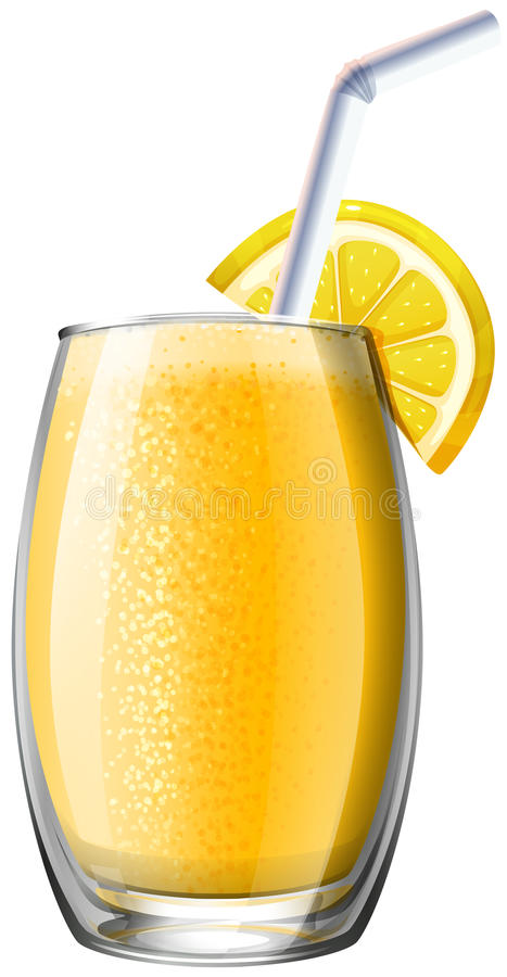 Orange smoothie in glass royalty free illustration