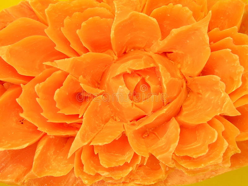 Orange soap. Orange floral soap can use as background royalty free stock photos