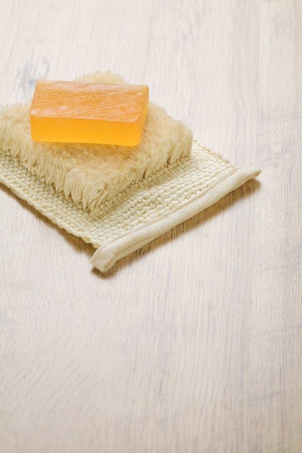 Download Orange soap on bast stock photo. Image of studio, textile - 17358368