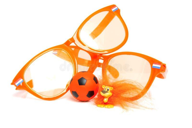 Orange soccer accessory royalty free stock image