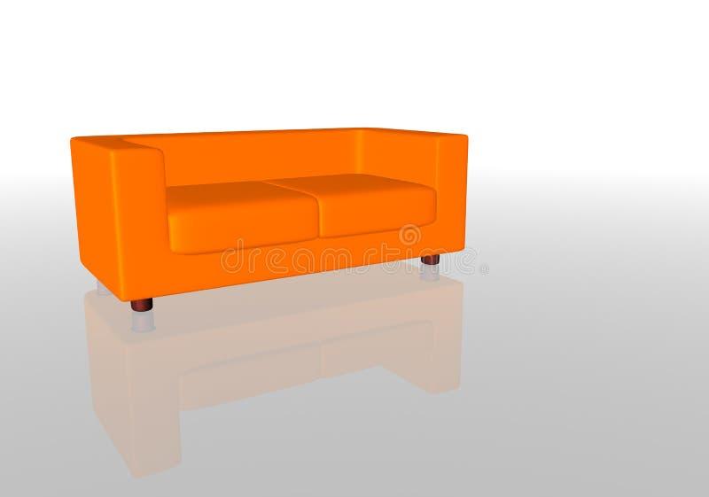 Download Orange Sofa stock illustration. Image of interior, couch - 88814
