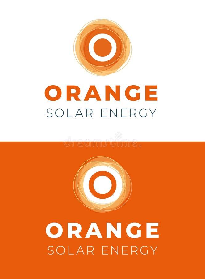 Orange Solar Energy Company Logo Template vector illustration