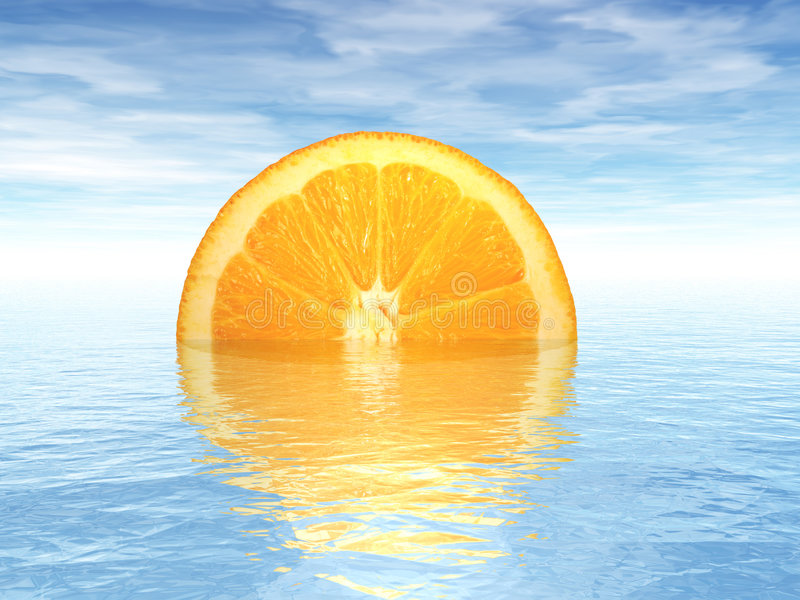 orange solnedgång arkivfoto