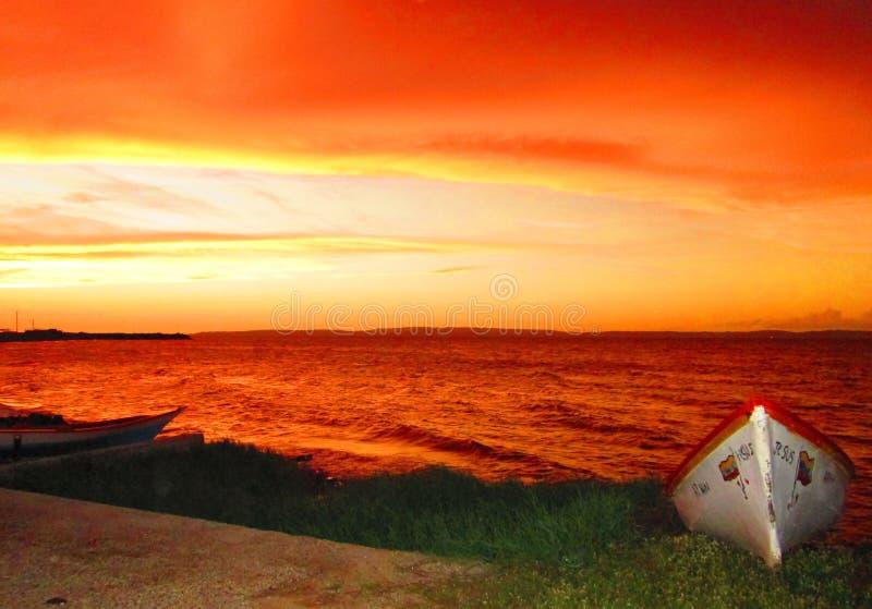Orange solnedgångsignaler arkivbilder