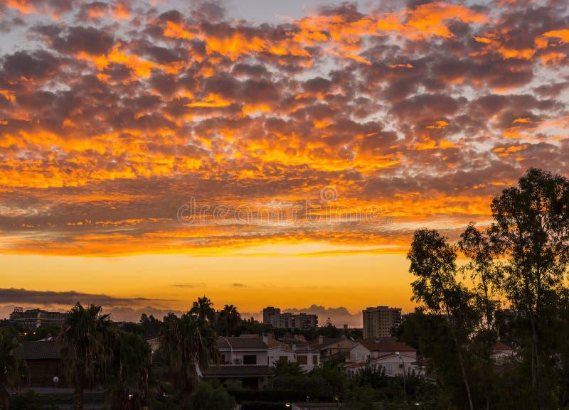 Orange Sonnenaufgang stockfoto
