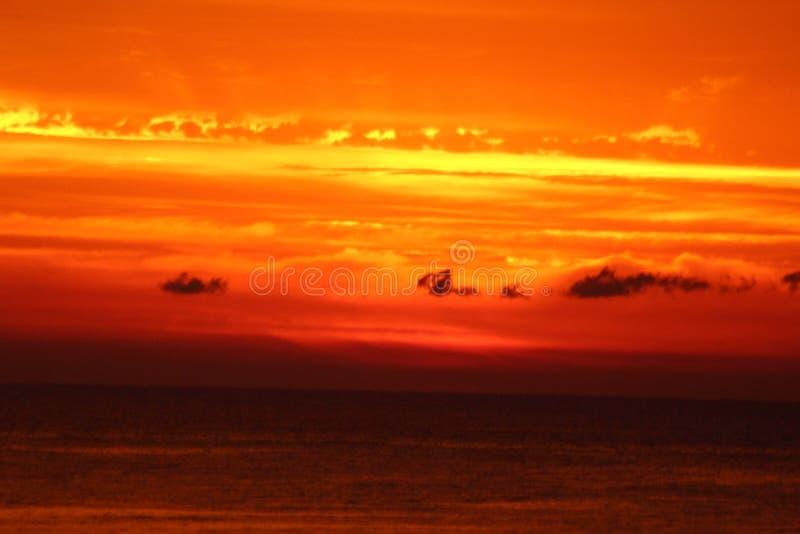 Orange Sonnenaufgang stockbilder