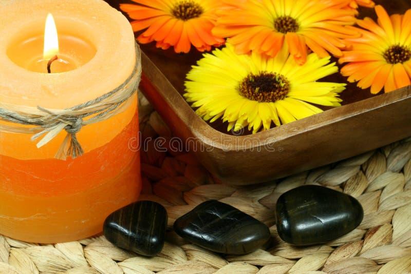 Orange spa stock foto
