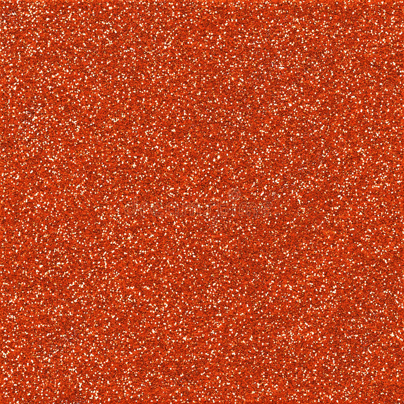 Orange Sparkling Glitter Paper stock photography