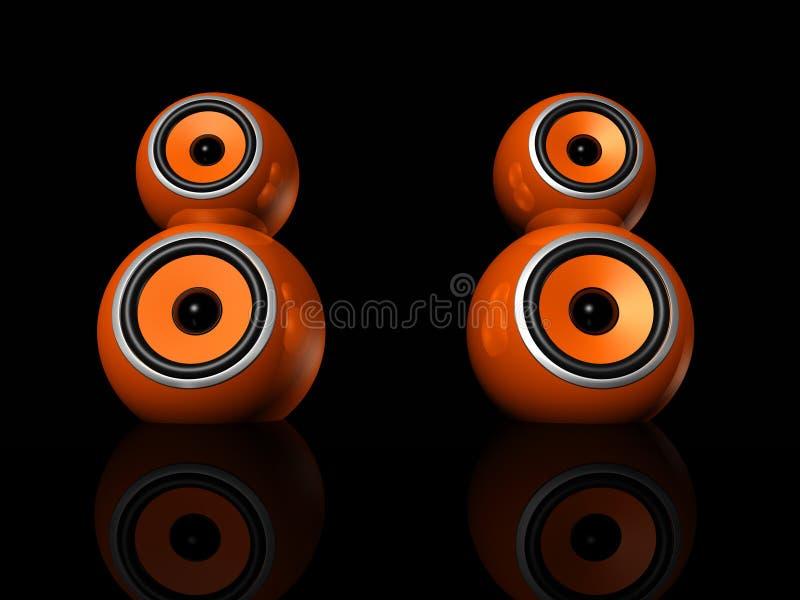 Download Orange speaker balls stock illustration. Image of image - 12091468