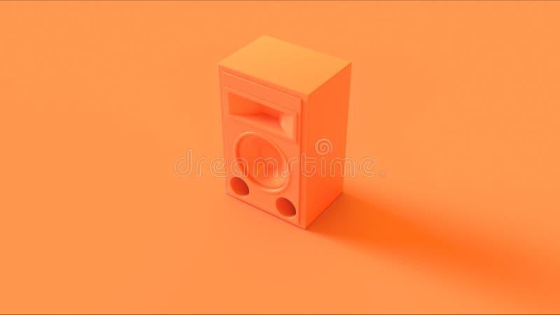 Orange Speaker isolate stock image