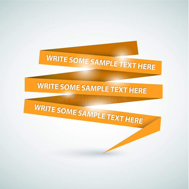 Download Orange Speech Bubble Made From Paper Stock Images - Image: 21817324