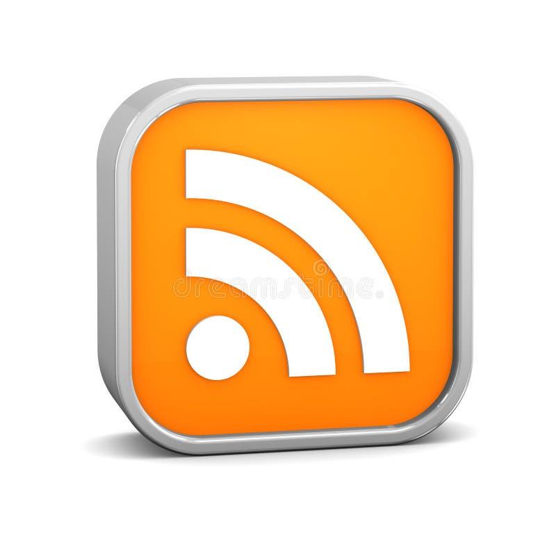 Orange speist Zeichen lizenzfreie abbildung