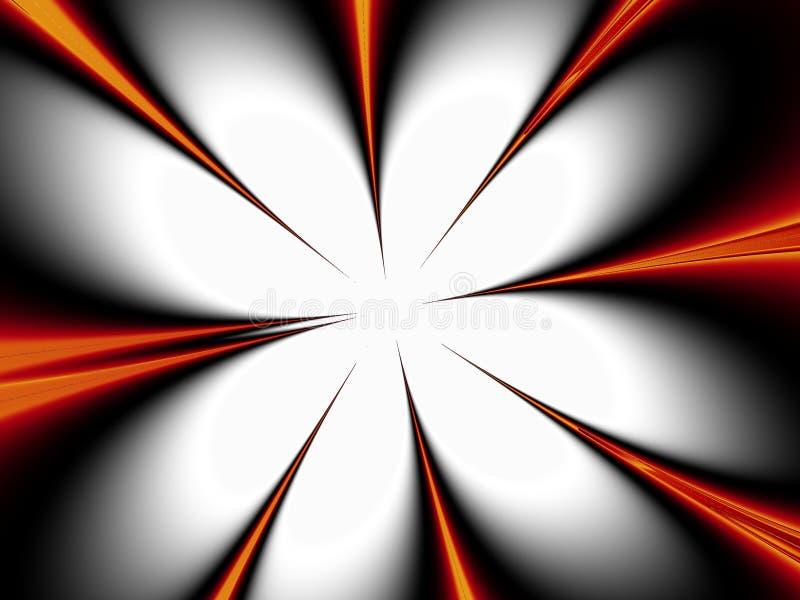Download Orange Spikes Point To White Stock Illustration - Image: 4652473