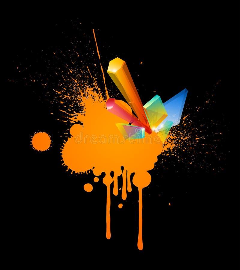 Download Orange splash stock vector. Image of illustration, layout - 17184700