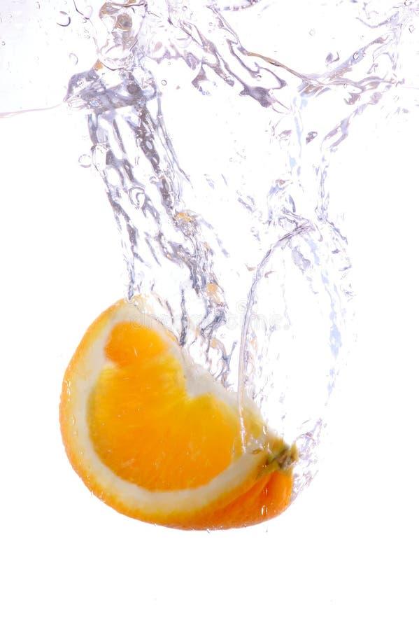 Orange splashing royalty free stock images