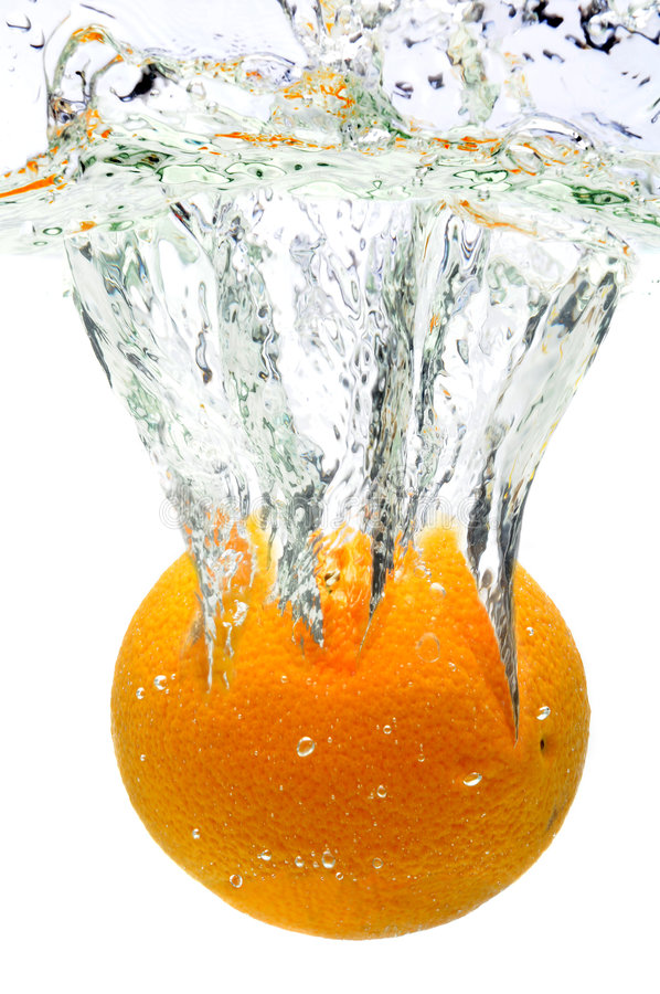 Download Orange Splashing In Water stock image. Image of slice - 8381575