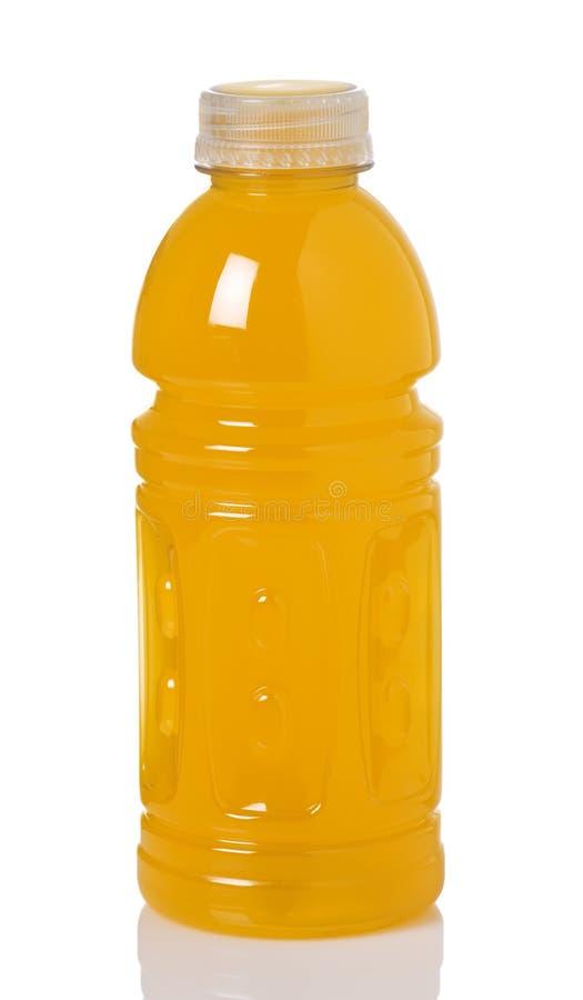 Orange Sport-Getränk in der Flasche stockbilder