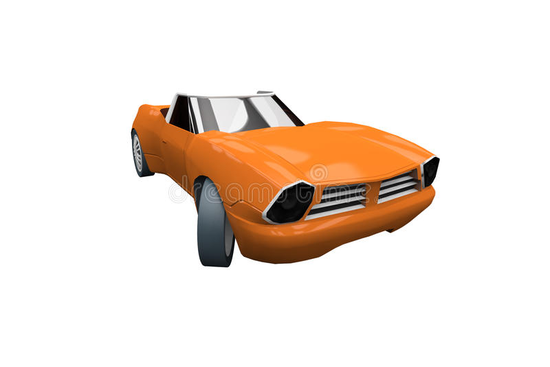 Download Orange Sports Car stock illustration. Illustration of speed - 20949832