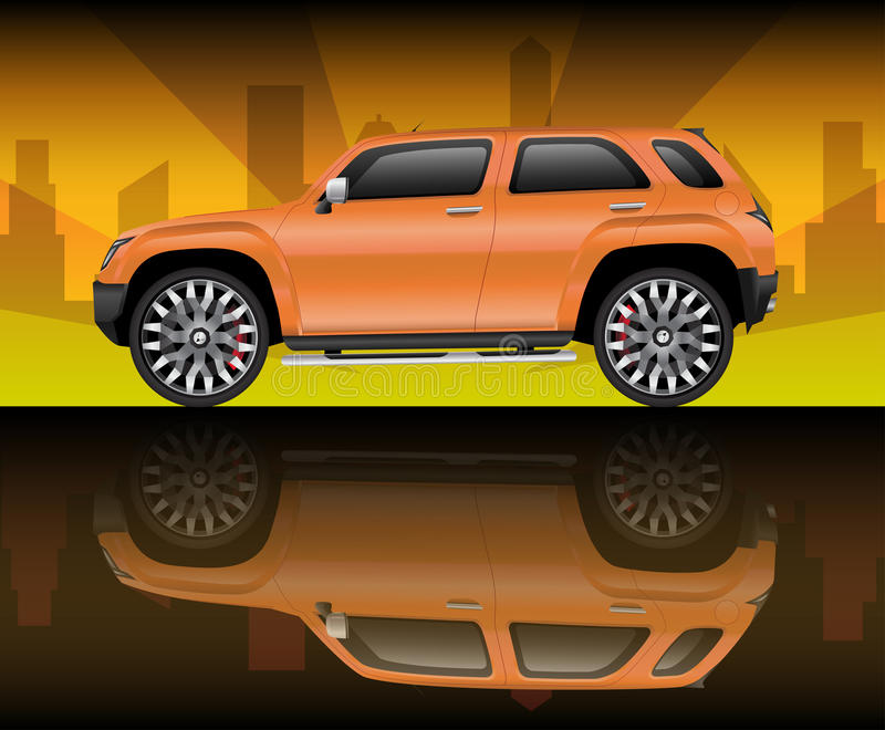 Download Orange Sports Utility Vehicle Stock Vector - Image: 20978045