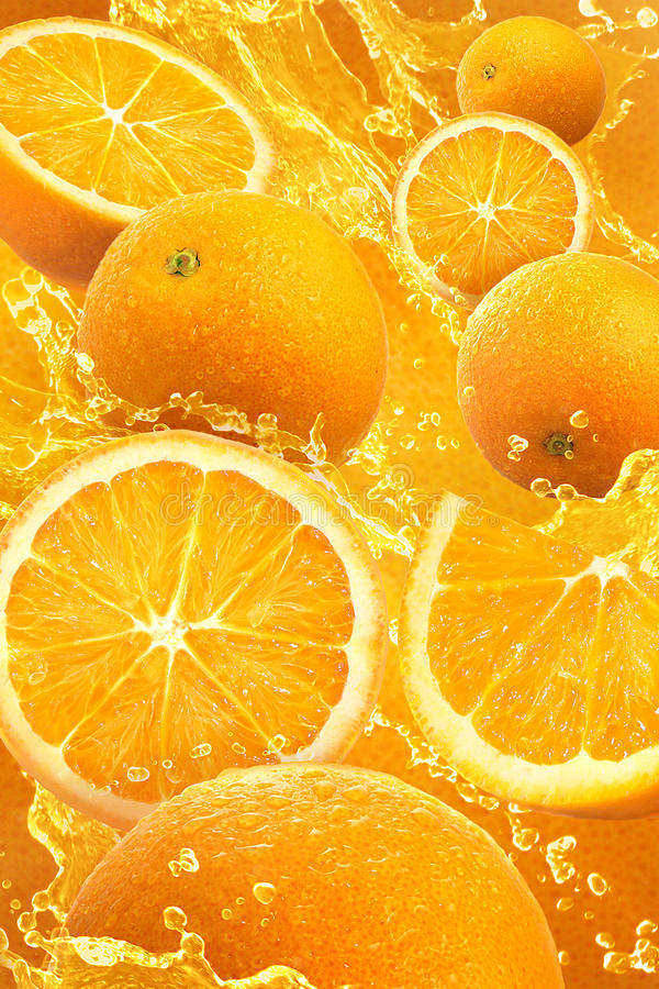 Orange Spritzen stockbilder