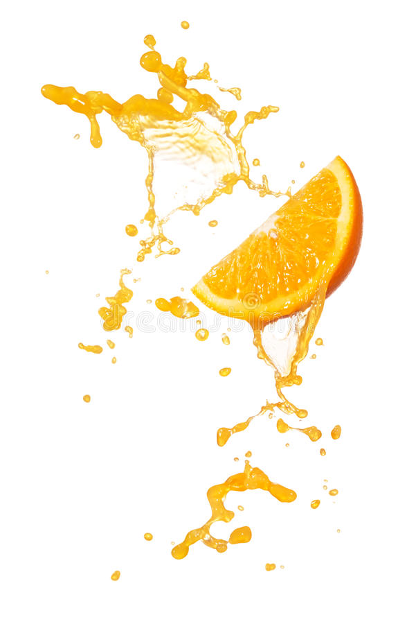 Orange Spritzen stockfotos