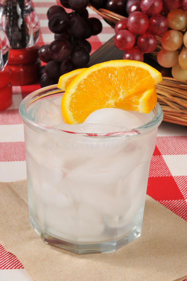 Orange Spritzer lizenzfreies stockfoto