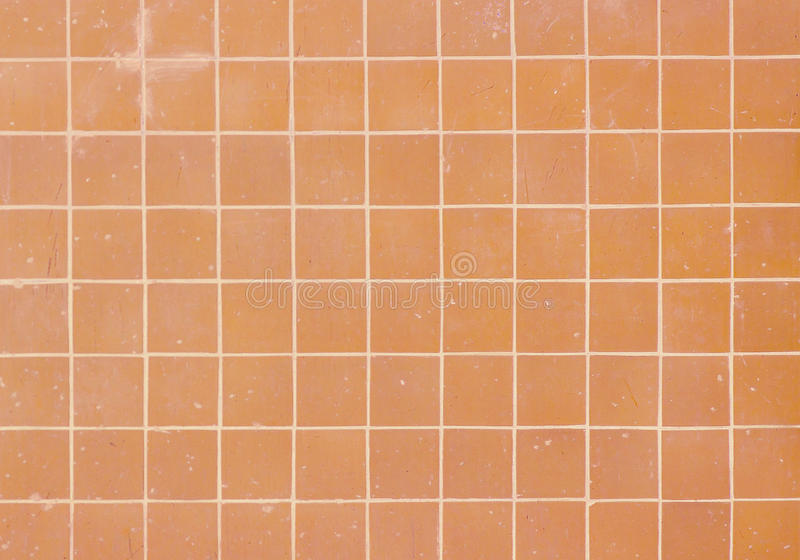 Orange Square Tiles Pattern stock photography