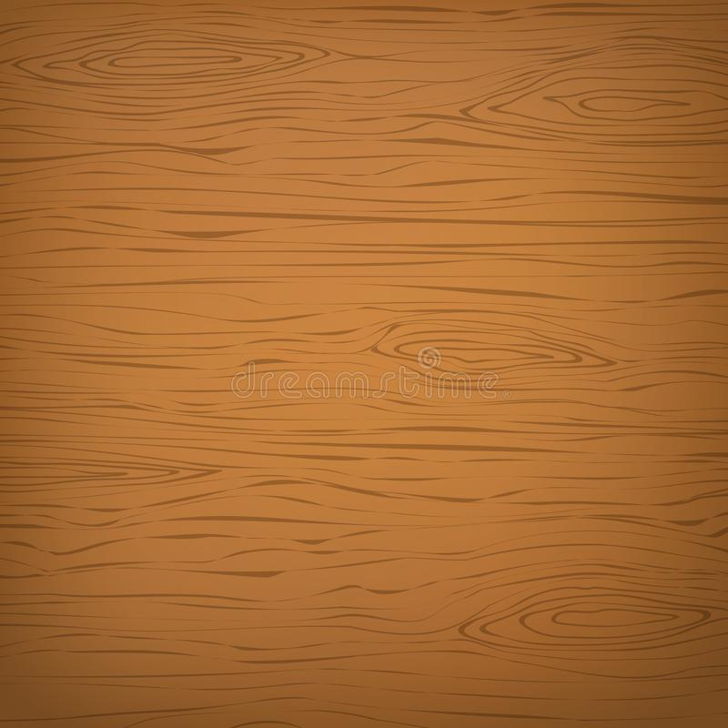 Orange square wooden cutting, chopping board, table or floor surface. Wood texture stock illustration