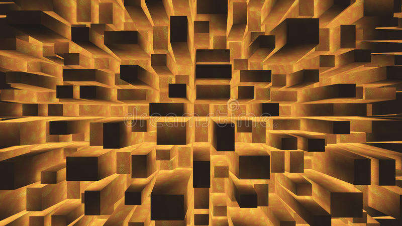 Orange squares abstract background vector illustration