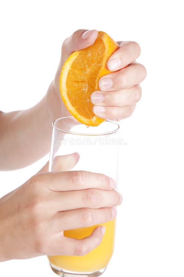 orange squeeze för fruktsaft royaltyfria foton