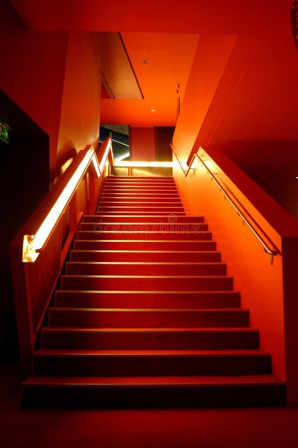 Orange stairs stock photography