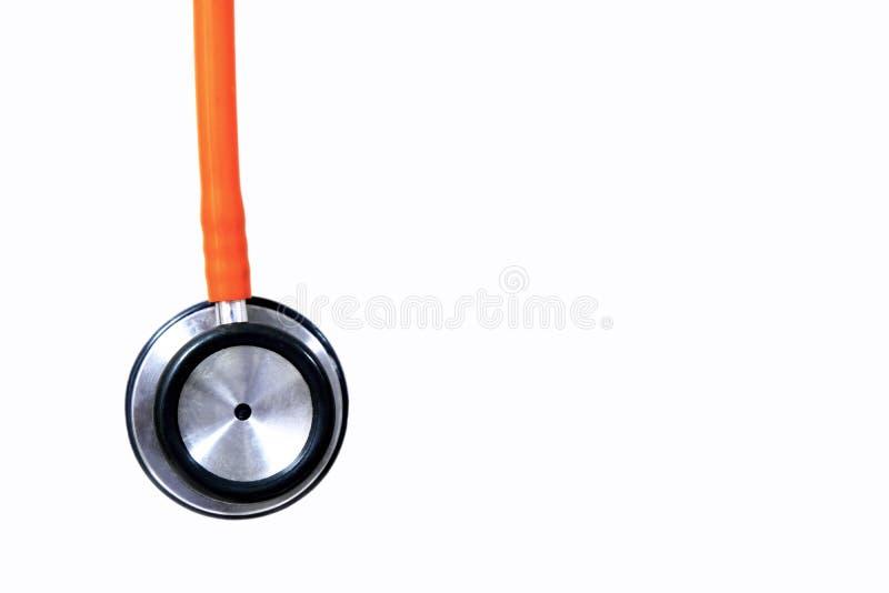 Orange stetoskop stock illustrationer