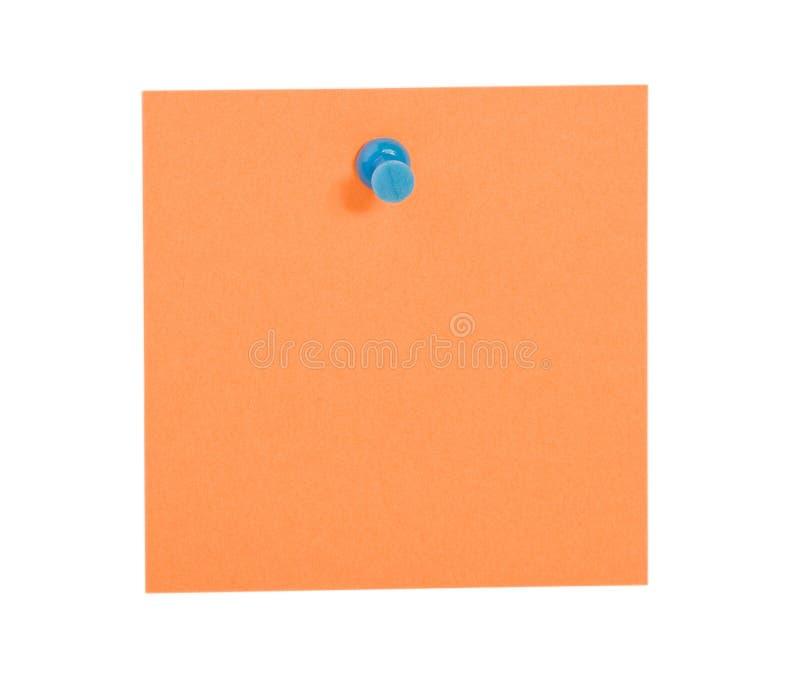 orange stiftpåminnelse för blå anmärkning royaltyfria foton
