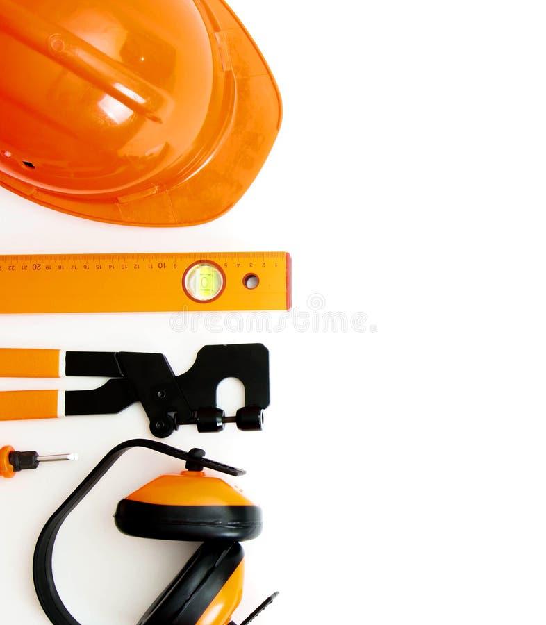 orange stil Funktionsdugliga hjälpmedel på en vit bakgrund royaltyfri bild