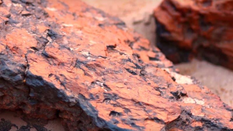 Orange stone stock photography