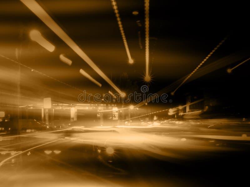 Orange Straßen-Auszug stock abbildung