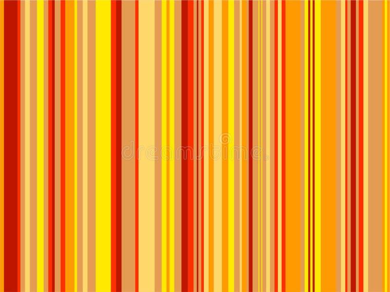 Orange Streifen stock abbildung