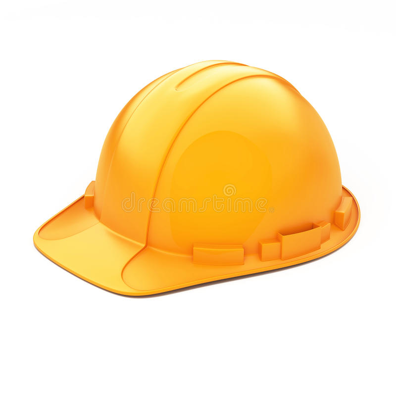 Orange Sturzhelm für Erbauer stockfotografie